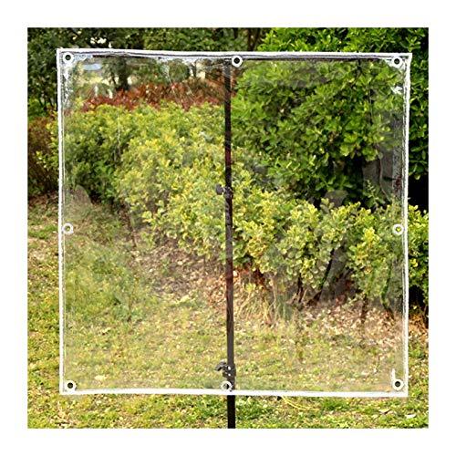 XINGLL Transparente Cobertura De Plástico, Resistente A La Lluvia En Frío, Antienvejecimiento, Lona Para El Porche De La Bicicleta Sin Deformación, 400G/㎡, 0,3Mm ( Color : Clear , Size : 2.5x3.5M )