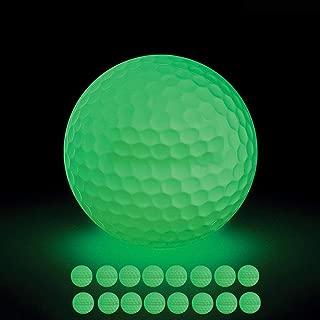 VintageBee 16 Pack Luminous Night Golf Balls Glow in The Dark Best Hitting Tournament Fluorescent Golf Ball Long Lasting Bright Luminous Balls No LED Inside