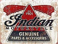インドのオートバイ1901 金属板ブリキ看板警告サイン注意サイン表示パネル情報サイン金属安全サイン