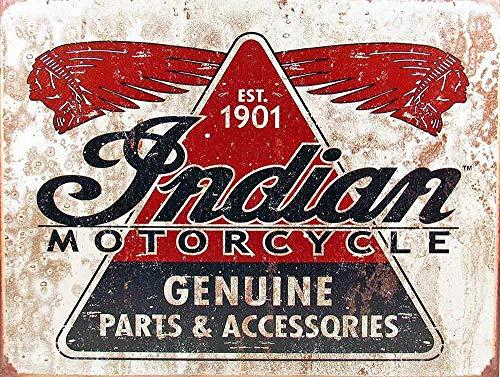 Indian Motorcycles 1901 Metall Blechschild Retro Metall gemalt Kunst Poster Dekoration Plaque Warnung Bar Cafe Garage Party Game Room Hauptdekoration
