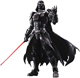 Siyushop Variant Play Arts Kai Darth Vader (PVC Figure) - Black Warrior Action Figure - Equipped with Weapons and Replaceable Hands - High 26CM