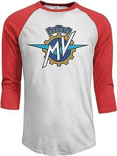 MV Agusta Logo Men's 3/4 Sleeve Raglan Baseball T-Shirts