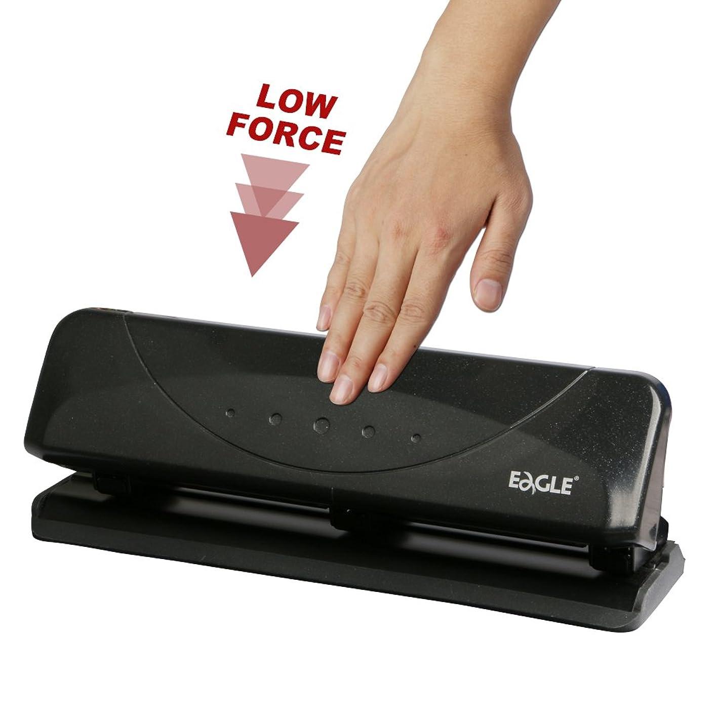 Eagle Desktop 3-Hole Punch,?Low Force,?20 Sheets Capacity