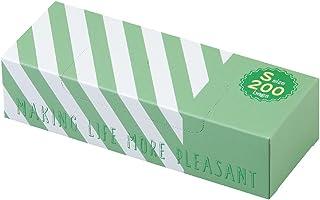 驚異の防臭袋 BOS (ボス) ストライプパッケージ/透明グリーンSサイズ200枚入 赤ちゃん用 おむつ ・ ペット うんち ・ 生ゴミ ・ サニタリー などの処理に