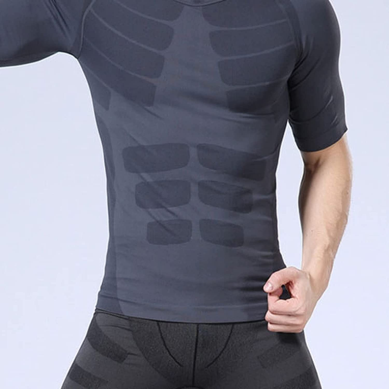 ChyJoey Mens Seamless Shapewear Tank Top Slimming Compression Shirts Weight Loss Waist Trimmer Body Shaper Shirt for Gym