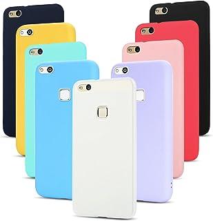 b9438d5b012 9x Funda Huawei P10 Lite Carcasa, SpiritSun Silicona Case Suave Gel TPU  Tapa Protectora Caso
