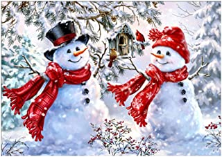 Loneflash DIY 5D Diamond Painting 30x40cm Christmas Snowman Crystal Rhinestone Diamond Embroidery Paintings Pictures Arts Craft for Home Wall Decor