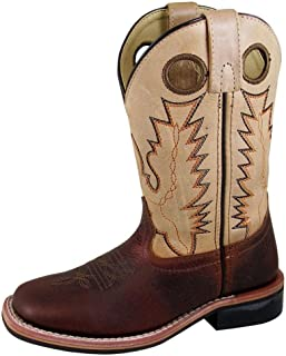 Smoky Mountain Western Boots Boys Jesse Square Toe 5.5 Youth Red 3663