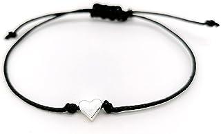Makramee Armband mit Herz- OneSize Handmade