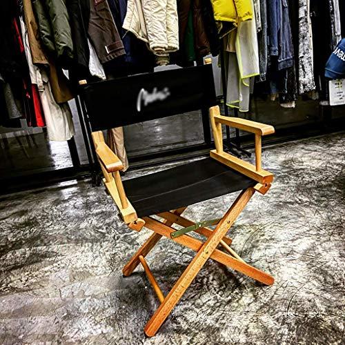 FZYE Sillas Plegables 2020 Silla de Director portátil de Madera Maciza Tela Oxford con Letras en inglés de Personalidad - Muebles de jardín Asiento Plegable sillas de Camping (Color: Ne