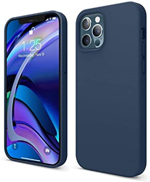 YOUNICK iPhone 11/iPhone 12 / iPhone 12pro Case, Liquid Silicone Case Back Cover for Apple (Blue, iPhone 12/12Pro)