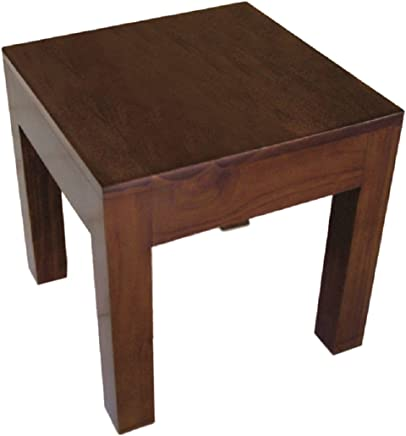 NES Furniture NES Fine Handcrafted Furniture Solid Teak Wood Cayla End Table/Accent Table - 24