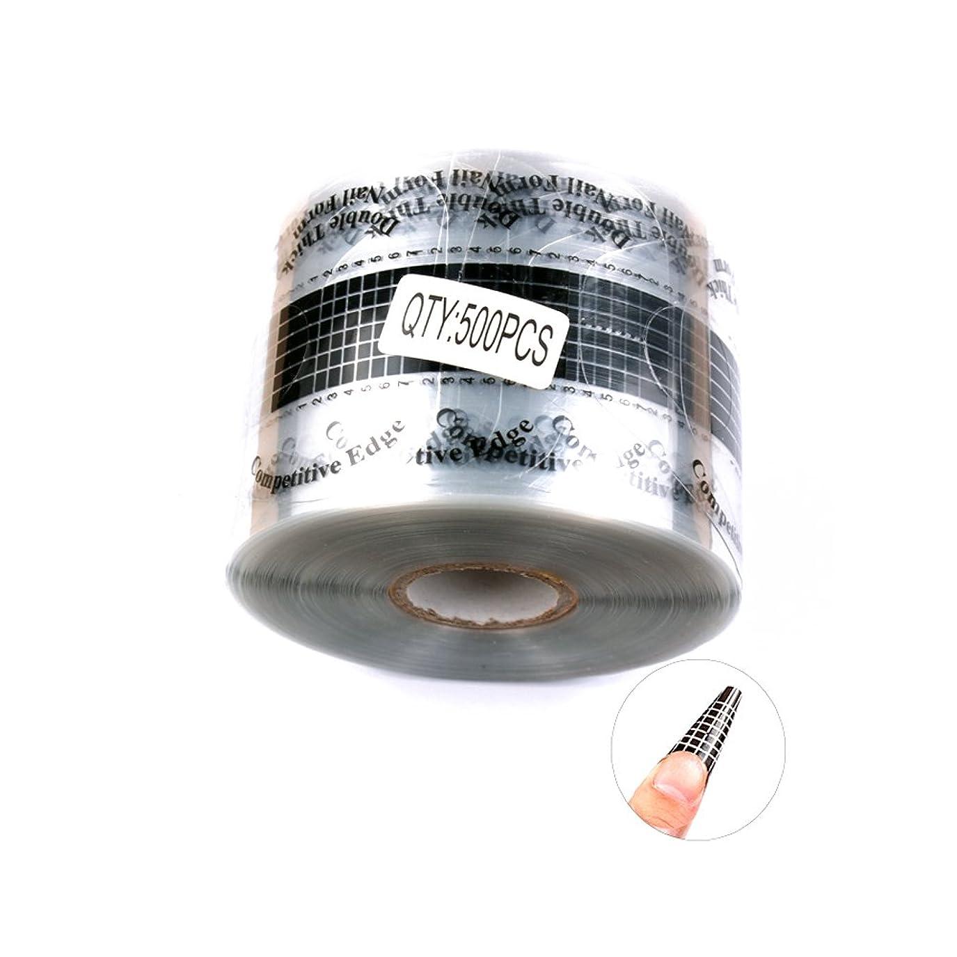 ハロウィン改修する美徳FingerAngel 使い捨てクレアネイルフォーム チェック 500枚 ネイルアートツール ネイルサロン