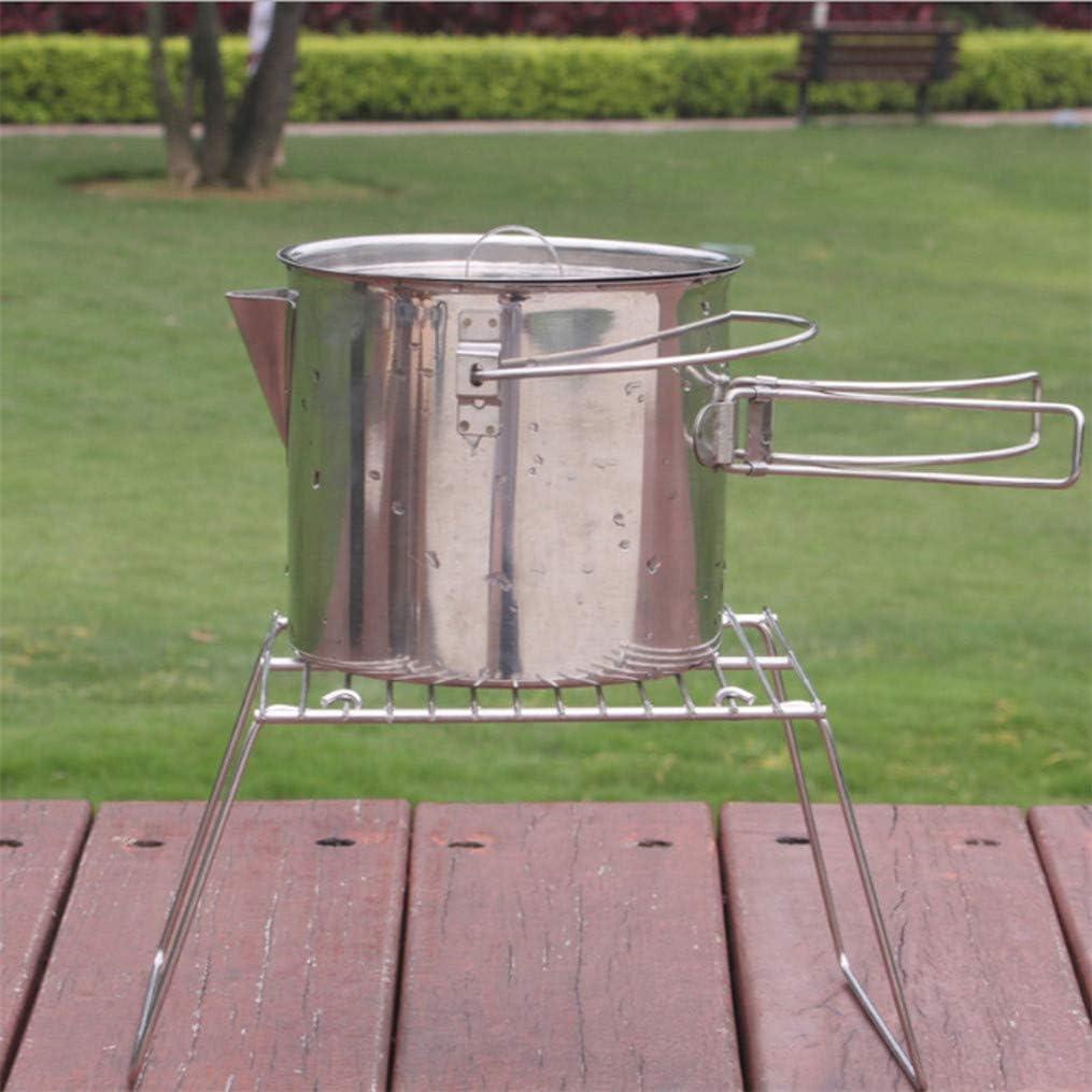 MNSYD Outil de Camping Pliable Barbecue Grill Accessoires de Pique-Nique avec Jambes Parc Cuisinière Feu de Camp Fournitures de Cuisine extérieure,S L
