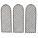 Oypla Set of 3 Willow Trellis Fencing Panel Screen Climbing Trellises