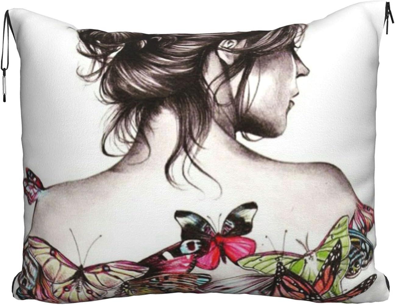 Beautiful Girl Travel Blanket Pillow online shop Soft B 2-in-1 Combo Max 76% OFF Velvet