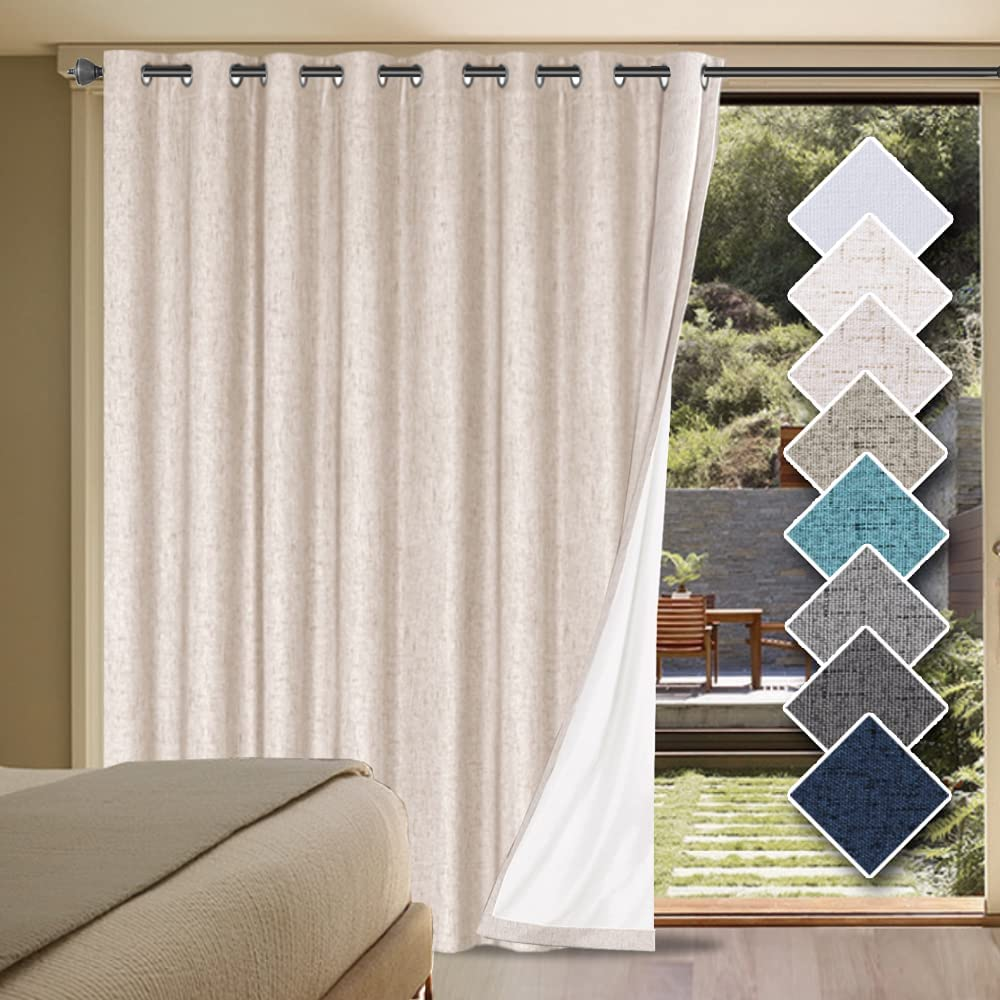 H.VERSAILTEX Linen Blackout Now free Low price shipping Curtains Line Durable Textured Thick