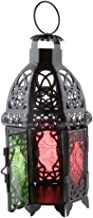 Blesiya Moroccan Wall Hanging Colorful Glass Lamp Lantern Tea Light Candle Holder, Home Decorations Wedding Party Deco