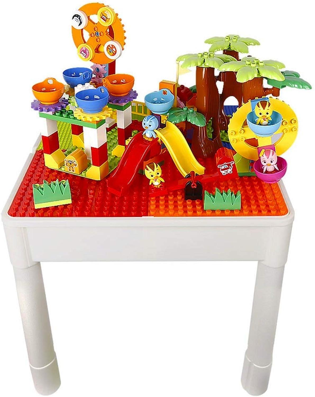 Tische Kinderbausteine Montage Spielzeug Pdagogisches Spielzeug Multifunktionale Bausteine  Jungen Und Mdchen Spielzeug Geschenke Für Kinder (Farbe   Farbe, Größe   51  49.5cm)