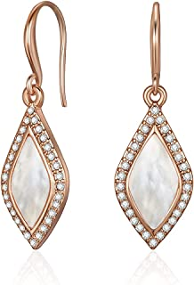 Mestige Women's Rose Gold Plated Crystals Carissa Dangle Earrings, Rose Gold - MSER3332