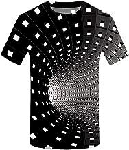 Men's Tank Top Casual 3D Printing Shirts Crewneck Short Sleeve Slim Fit T-Shirts Blouse