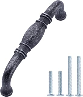 AmazonBasics AB2900-AS-10 Cabinet Pulls, Antique Silver