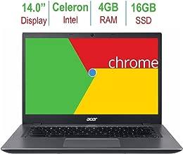 Newest Acer Chromebook 14-inch LED Anti-glare HD display (Intel Celeron 3855u 1.6GHz processor, 4GB RAM, 16GB eMMC SSD, HDMI, 802.11a Wifi, Bluetooth, Intel HD Graphics, Black, Chrome OS)