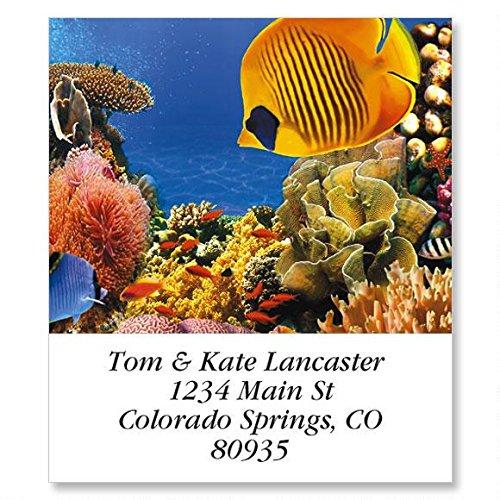 Undersea Self-Adhesive, Flat-Sheet Select Address Labels (12 Designs)