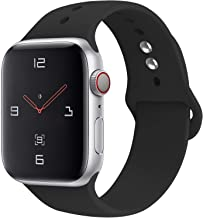 YOUKEX Sport Band Compatible with Watch 38mm 40mm 42mm 44mm,Soft Silicone Strap Replacement Wristbands Compatible with Watch Sport Series 4 Series 3 Series 2 Series 1 Edition
