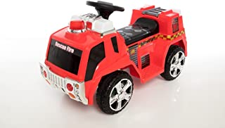 Beyond Infinity 6V Ride On Wonderlanes Rescue Fire Truck, Red, 34.65 x 15.35 x 20.5