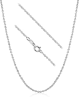 925 Sterling Silver 1.5mm Cable Chain Neckalce Made In Italy
