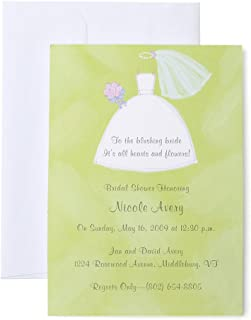 Mara-Mi Wedding Dress Imprintable Invitation, 10-Count (MM0106802)