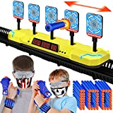 Digital Shooting Targets, Three Multiplayer PK Modes, Double Accessories for Nerf Gun, Electronic Scoring Auto Reset Shooting Target for 6 7 8 9 10+ Years Old Boys