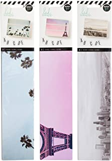 Heidi Swapp - Lightbox Backgrounds Set - Palm Trees, Urban & Eiffel Tower - 3 Item Set - 9 Background Inserts