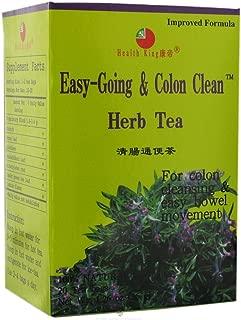 Health King Medicinal Tea,Easy Going/Colon Clea, 20 Bag, 4pk