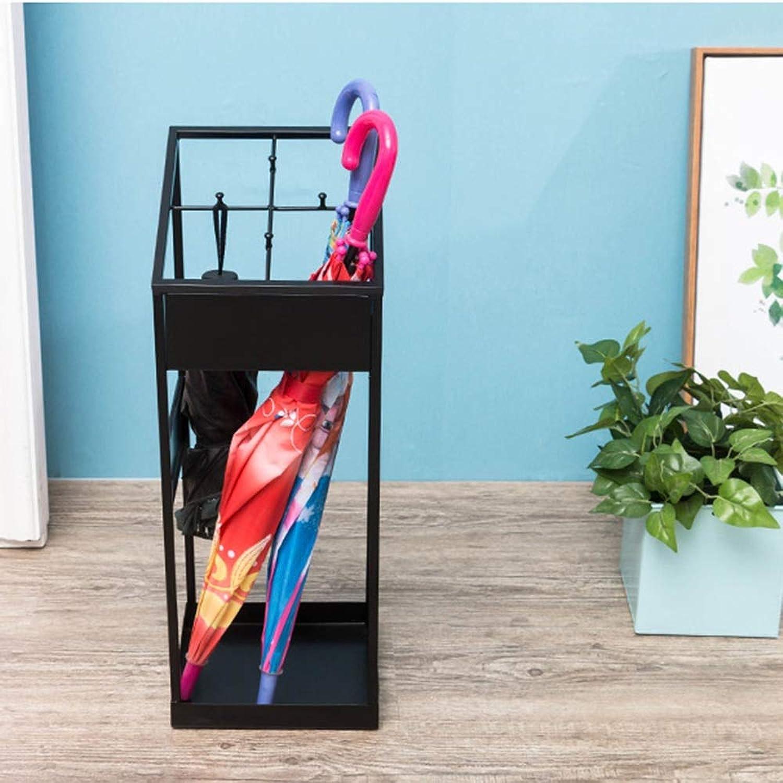 QFFL yusanjia Umbrella Stand, Wrought Iron Storage Rack, Folding Umbrella Stand, Storage Rack, Hanging Umbrella Stand, for Hotel Lobby, 2 colors Optional Umbrella Holder (color   Black)