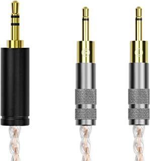 Geekria アポロアップグレードケーブル 4N OCC + 単晶銀 Sennheiser HD700 等対応オーディオ ステレオ ヘッドフォン アップグレードケーブル コード 16芯編み 130CM(3.5mmステレオプラグ 3極)