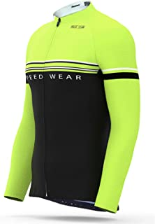 Roadbox Men's Cycling Jersey Moisture Wicking Long Sleeve Biking Shirts Jacket