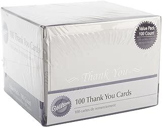 Wilton W8151 Thank You Cards & Envelopes 100/Pkg-