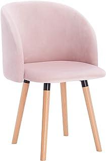 WOLTU 1x Sillas de Comedor Nordicas Estilo Vintage Dining Chairs Juego de 1 Sillas de Cocina Tulip Sillas Tapizadas en Ter...