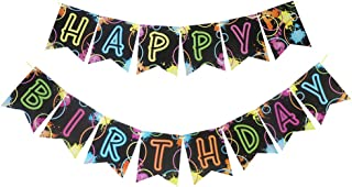 Glow Party Jointed Banners, Glow Decorations, Birthday Party Supplies