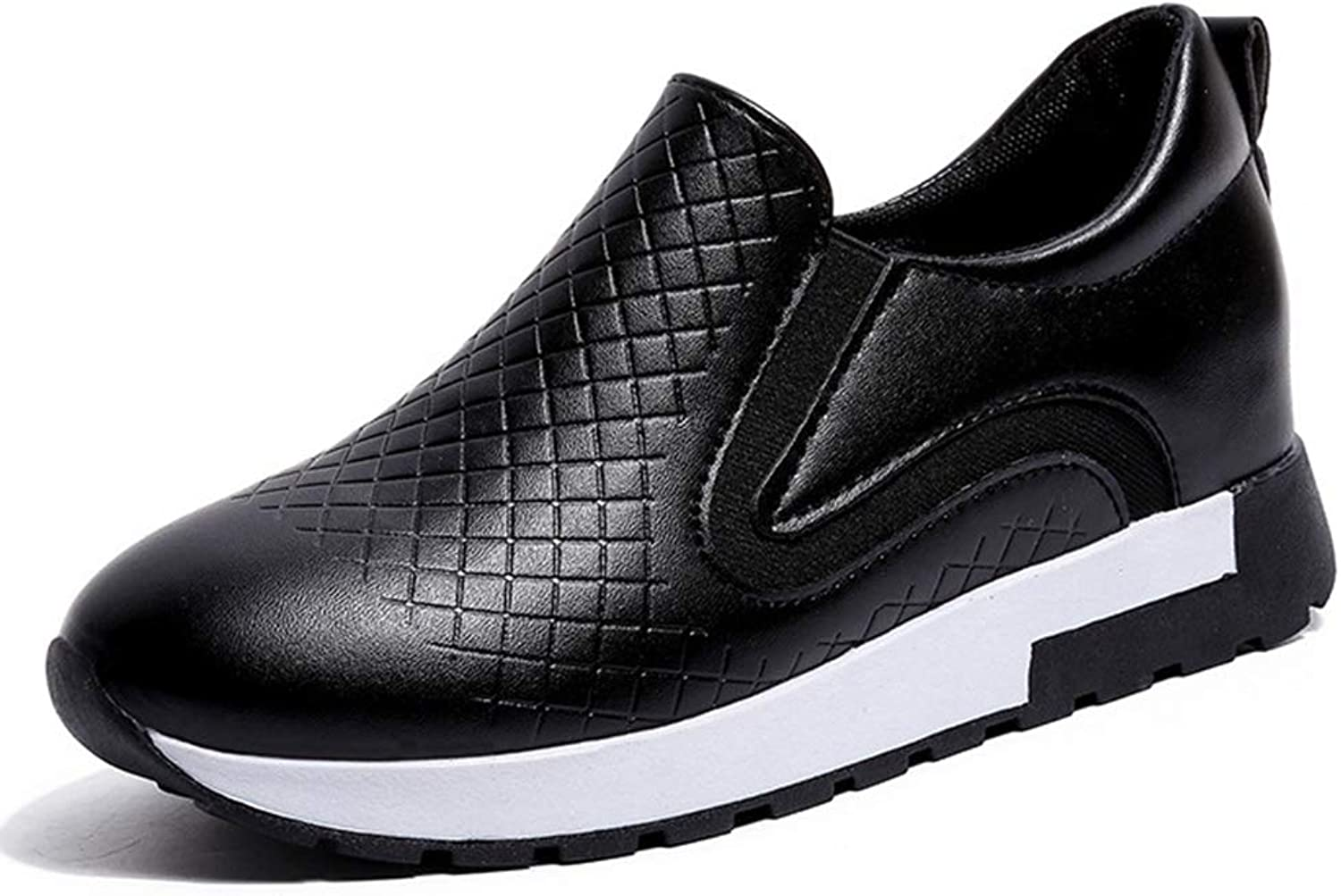 CYBLING Women's Fashion Sneakers Casual Slip On Loafers Quilted Hidden Heel Wedge Walking shoes