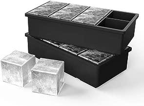Bandeja De Hielo De Silicona [2 Pack] cubitera hielo Bandeja de Cubitos bandejas para hielo