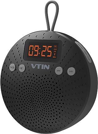 VicTsing Altavoz Bluetooth Ducha Impermeable, Radio FM y Pantalla LCD Digital, Manos Libres, Despertador y Micrófono, Buen Regalo de Navidad para Sus Amigos y Familias