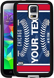 BRGiftShop Customize Your Own Baseball Team Chicago Blue Rubber Phone Case for Samsung Galaxy S5