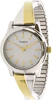 Timex Women's Quartz Watch, Analog Display and Stainless Steel Strap TW2R98600