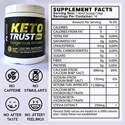 4 Pack Perfotek Keto Powder - Instant Ketosis - Exogenous Ketones Weight Loss Supplements with BHB and Electrolytes for Ketogenic Diet - Lemon Lime 1