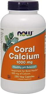 Now Coral Calcium 1000 mg,250 Veg Capsules