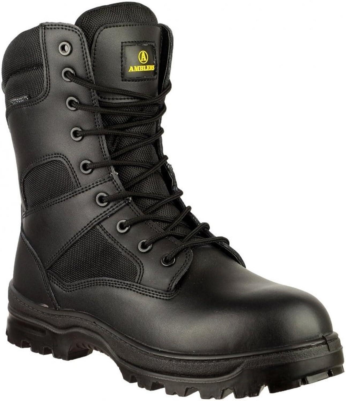 Amblers Mens Combat WP Black Waterproof Lace Up Boot