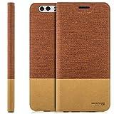 zanasta Tasche kompatibel mit Huawei Nova Plus (MLA-L11) mit Kartenfach Hülle Flip Hülle Slim Schutzhülle Handytasche, Standfunktion | Rotbraun